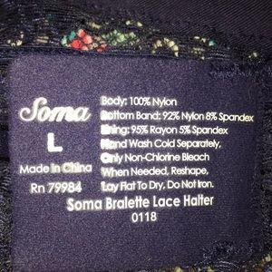 Soma Intimates & Sleepwear - Soma   Bralette Lace Halter 0118 Blue Parrot Large